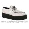 V-Creeper-502 White/Black Faux Leather